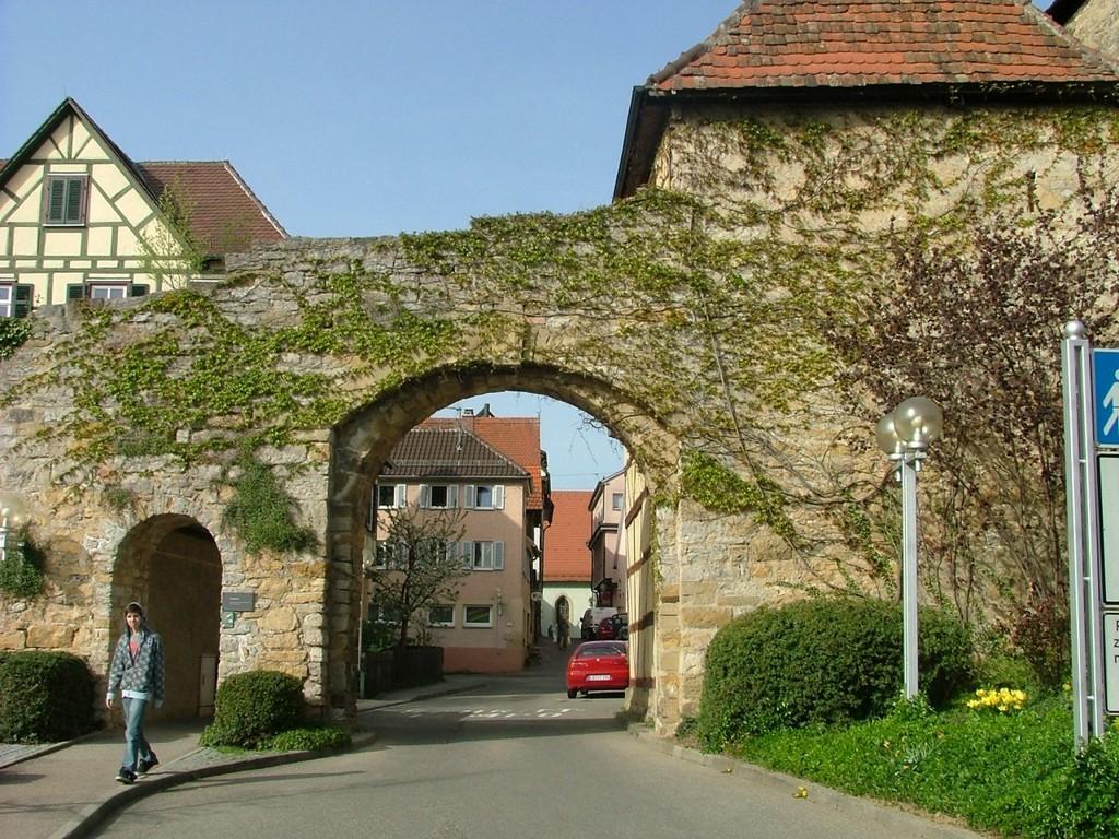 Tor zur Altstadt von Marbach.