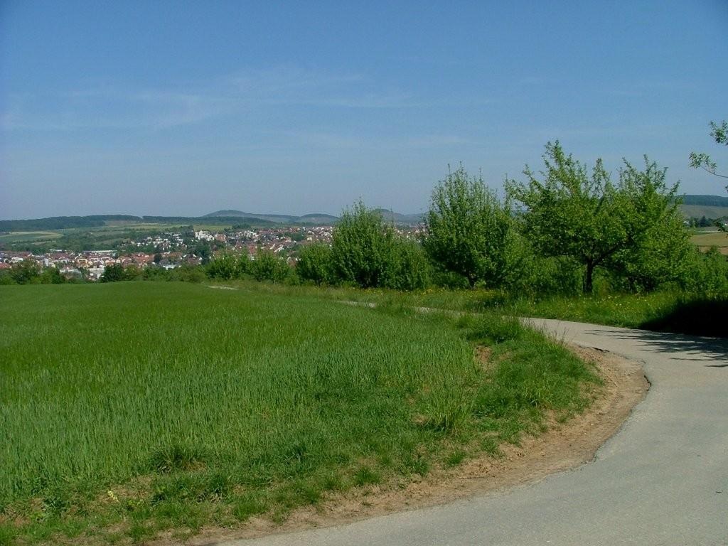 Und schon wieder eine Abfahrt. Hinunter nach Steinheim.