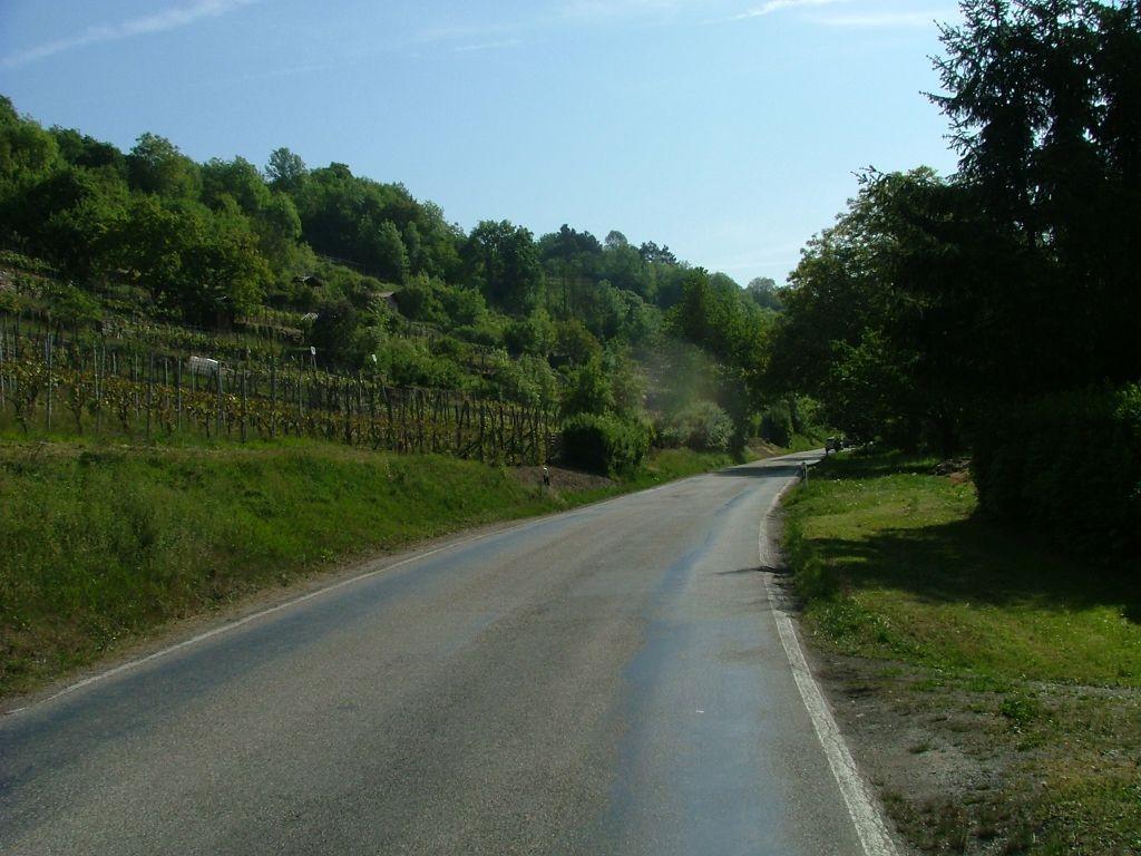 Ca. 200 Meter ist auf der schmalen Landstraße Vorsicht geboten.