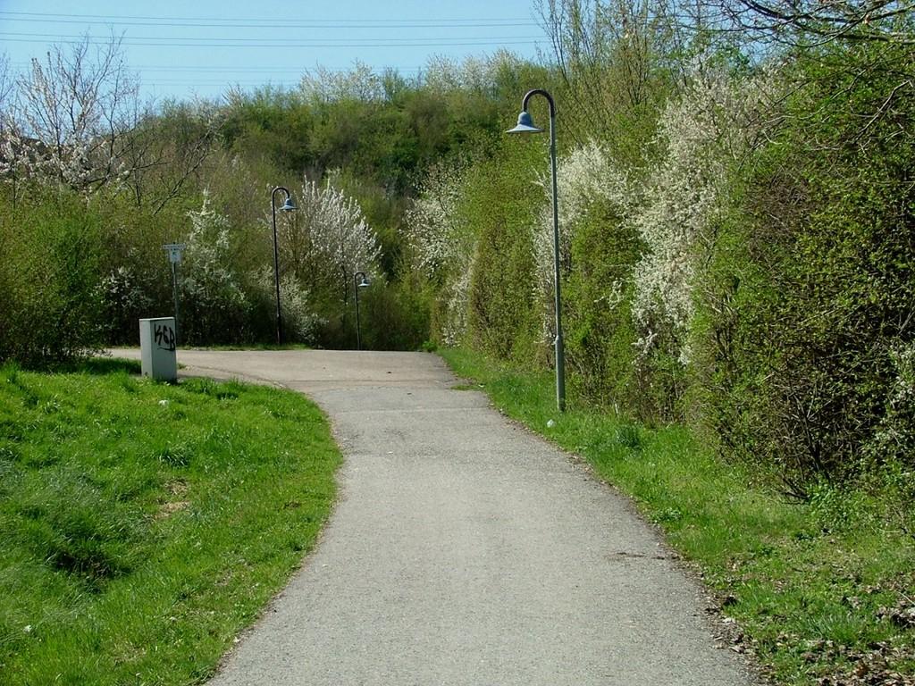 Radweg zum Vaihinger Bahnhof in Kleinglattbach
