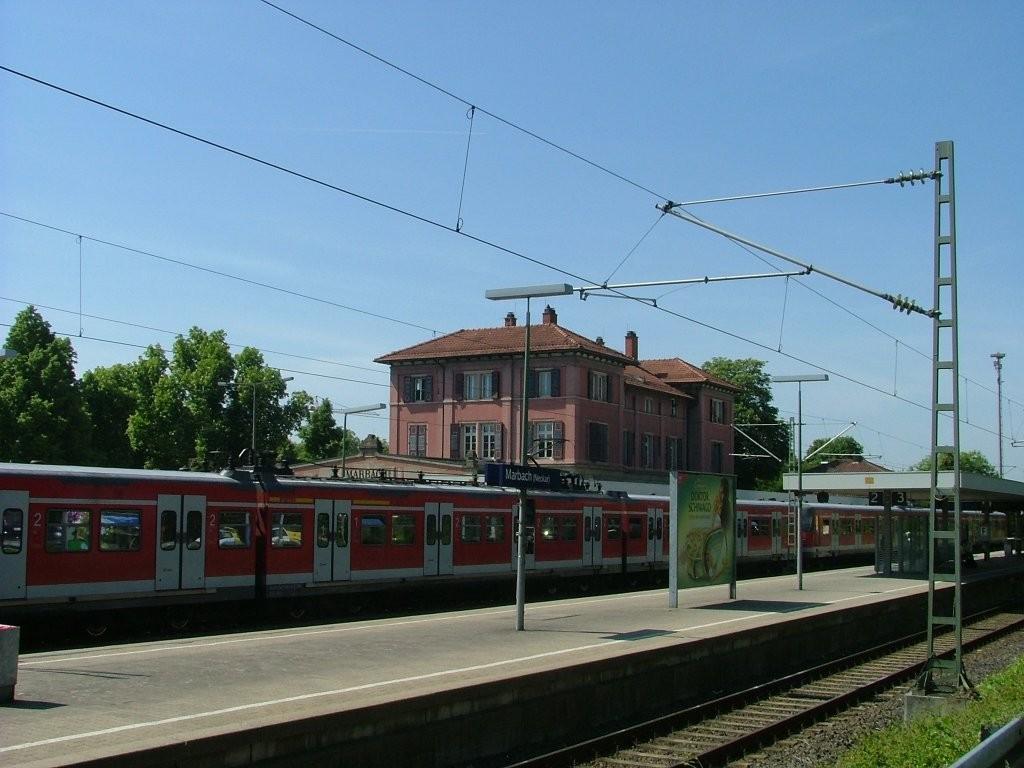 Die Boskoop Route startet am Parkplatz vom Marbacher Bahnhof bei Gleis 2