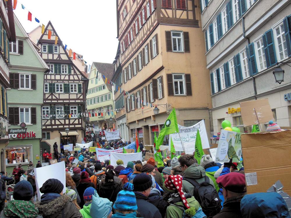 Der Demonstrationszug beginnt, Foto F. Handel