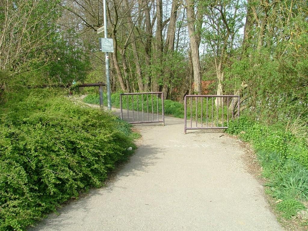 In diesen Radweg müssen Sie einbiegen.