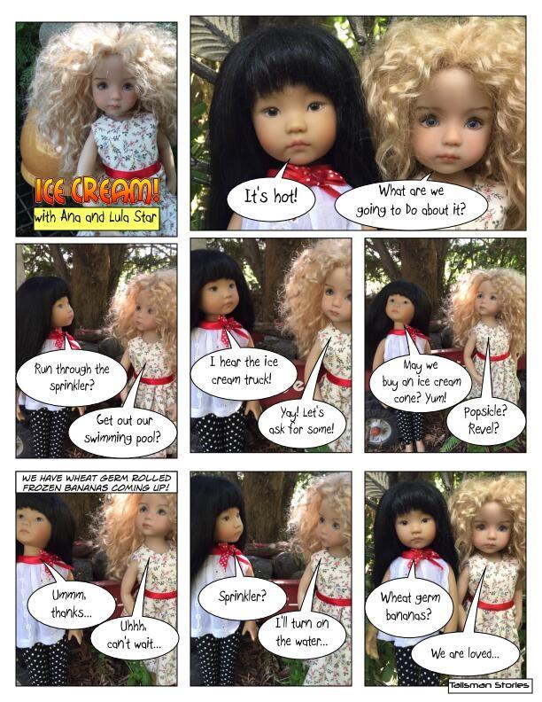 "Talisman Stories ""Ice Cream!"" Dianna Effner Little Darlings Ana and Lula Star"