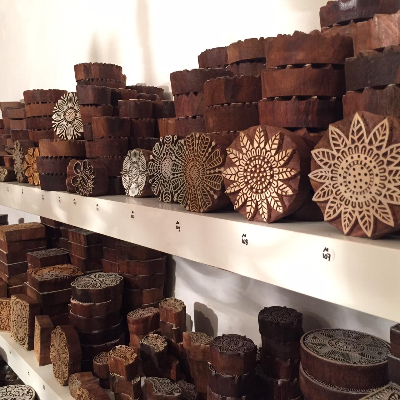 Indische Holzstempel für Textildruck Laden & Onlineshop Wädenswil