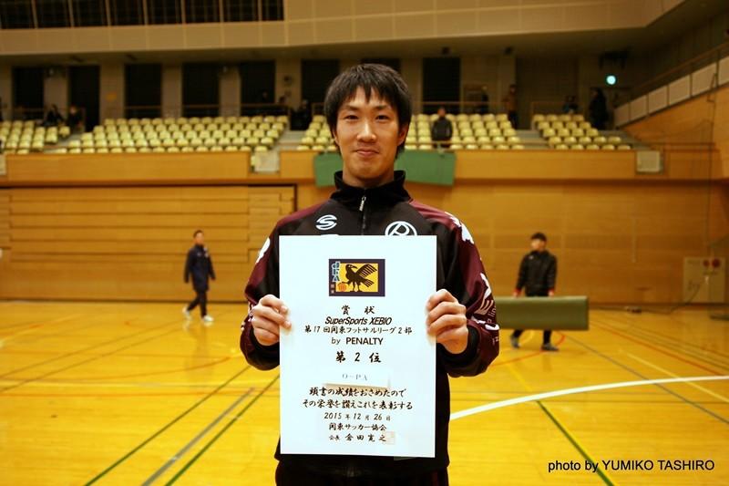 2015年度得点王(10得点)O-PA 12番・林賢治選手