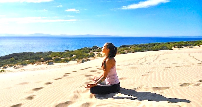 Yoga Urlaub Spanien Burnout