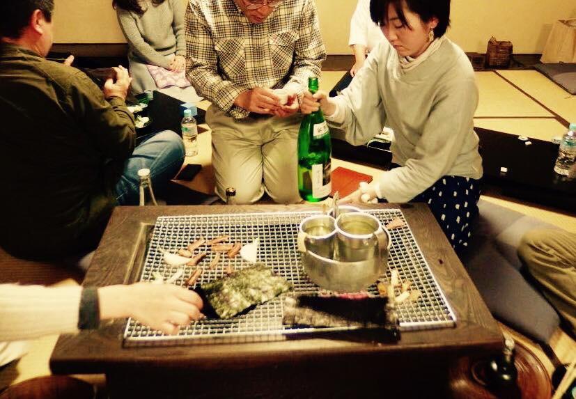 『日本酒ガールと火鉢の燗酒であったまろ♡』料理旅館井筒安 2016.1.23