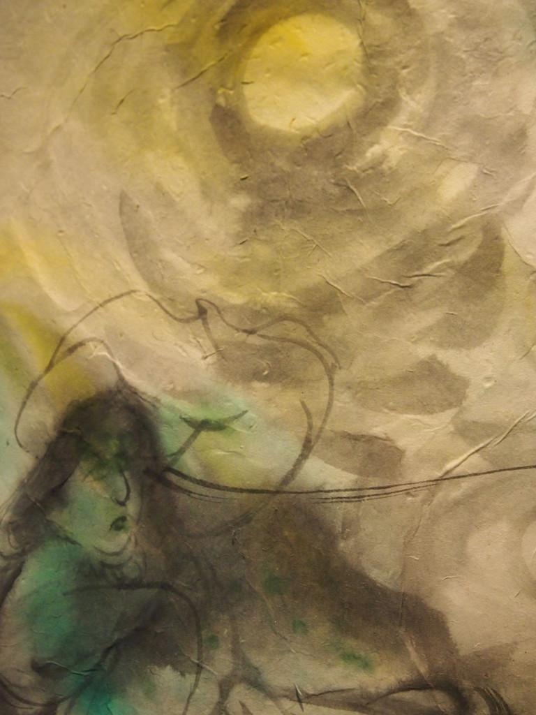 イザナギ:水墨画