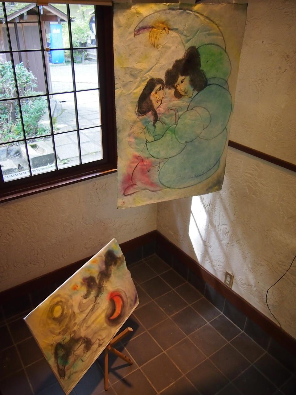 イザナギとイザナミ:水墨画
