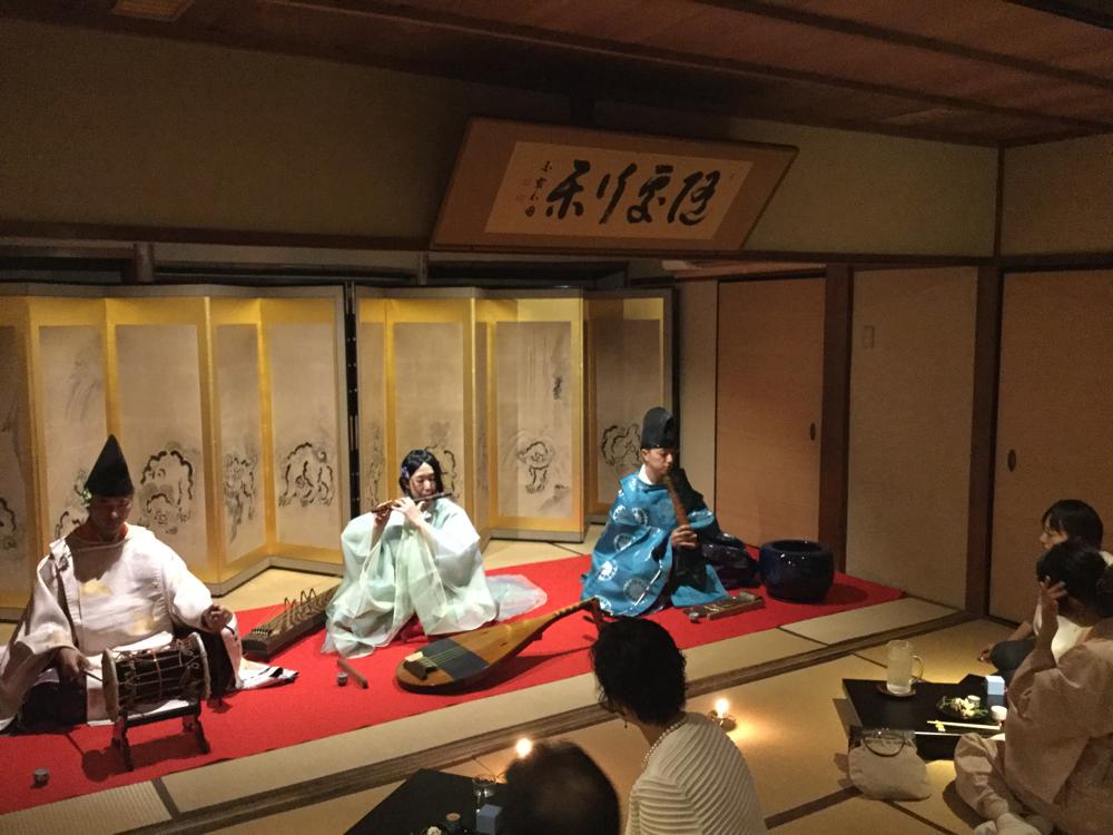 「日本酒ガールと雅楽の宴」料理旅館井筒安 2016.9.10