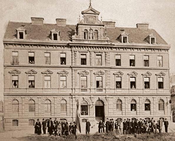 Das Grazer Kolpinghaus im Jahr 1885