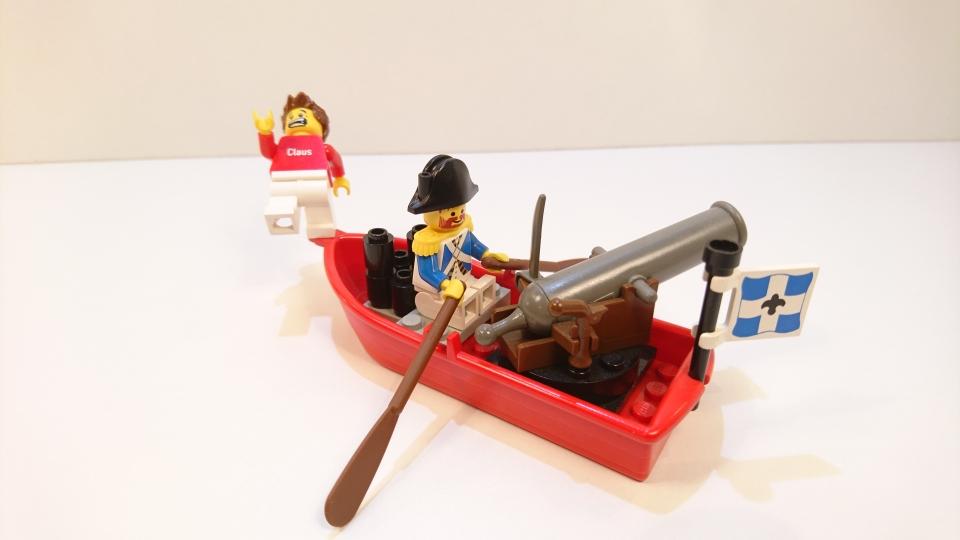 6245 - Ruderboot mit Kanonier