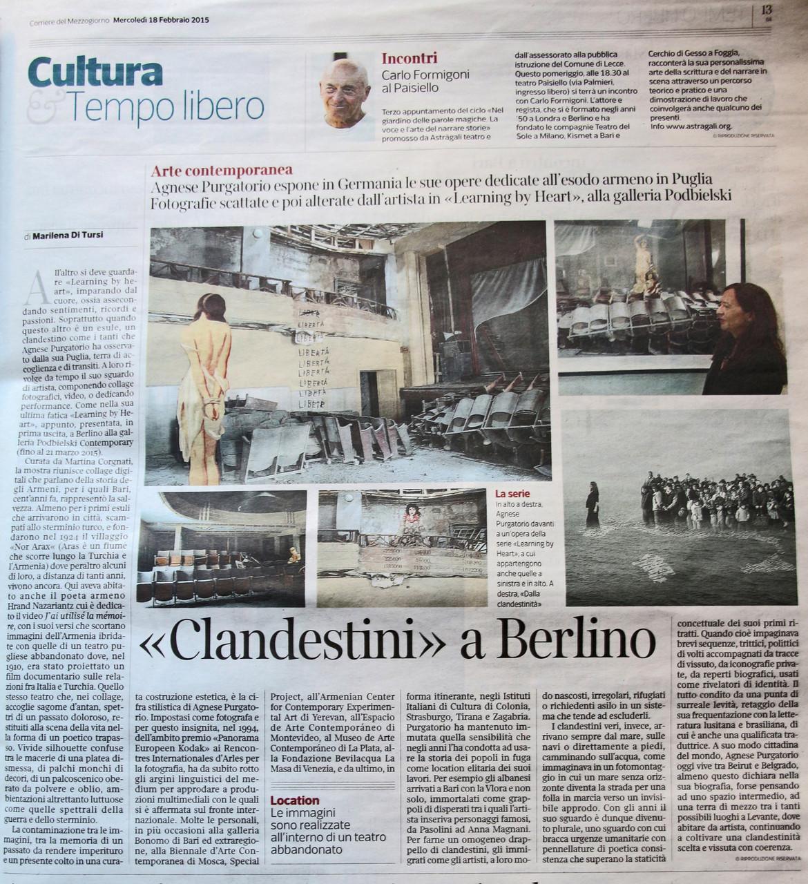 Corriere del Mezzogiorno 18 febbraio 2015