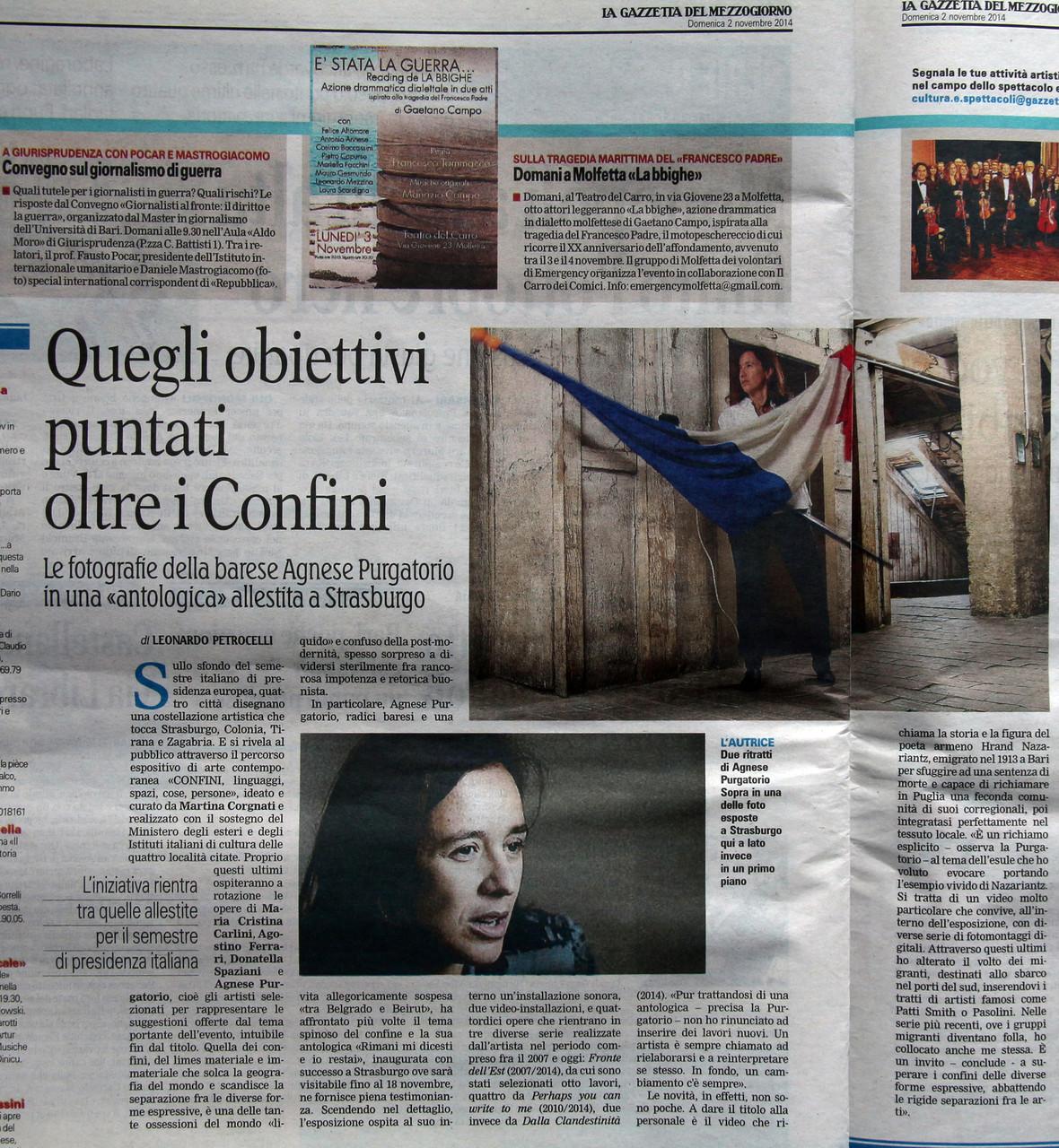 La Gazzetta del Mezzogiorno 02 novembre 2014