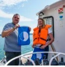 IOI SLOVENIA (FP): DOVES (Slovenian Foundation for Environmental Education) awarded the Blue Flag certification to the MBS-NIB research boat Sagita