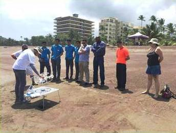 IOI COSTA RICA: Speech and demonstration on rip current phenomena and use of drones attended by the Jaco Technical High School students, Jaco beach, Garabito