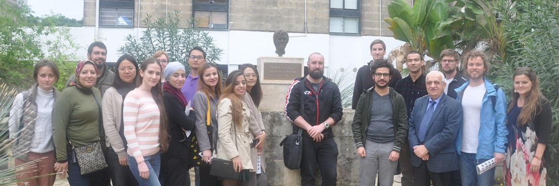 Class of 2018 during their visit to the Elisabeth Mann Borgese Monument at the University of Malta.  Photo Credit: E. Kostianaia