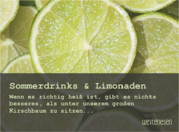 Sommerdrinks & Limonaden