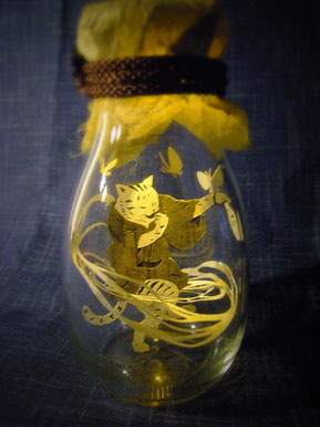 立体切り絵・猫・夏目漱石