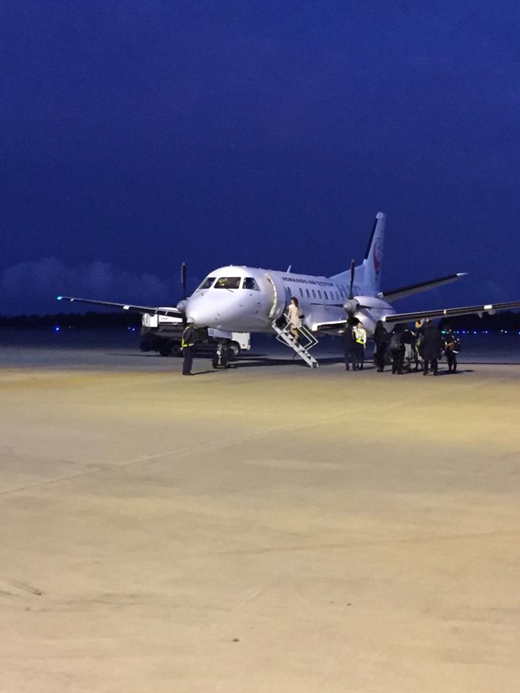 函館から札幌の移動は小型?飛行機!