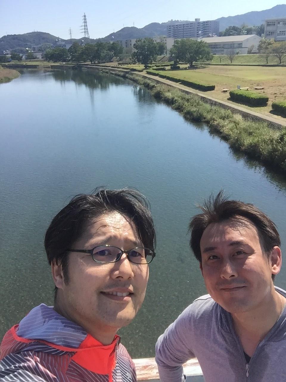 高知、鏡川。本当に綺麗!