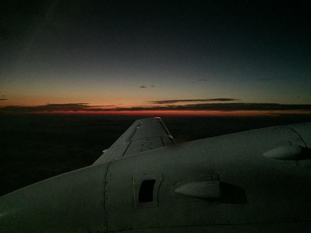 窓からの景色、夕焼けが綺麗でした!