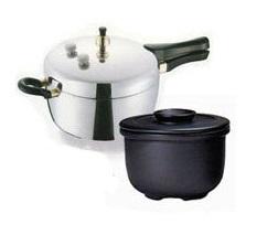 アルミに触らずに炊く陶器の内鍋