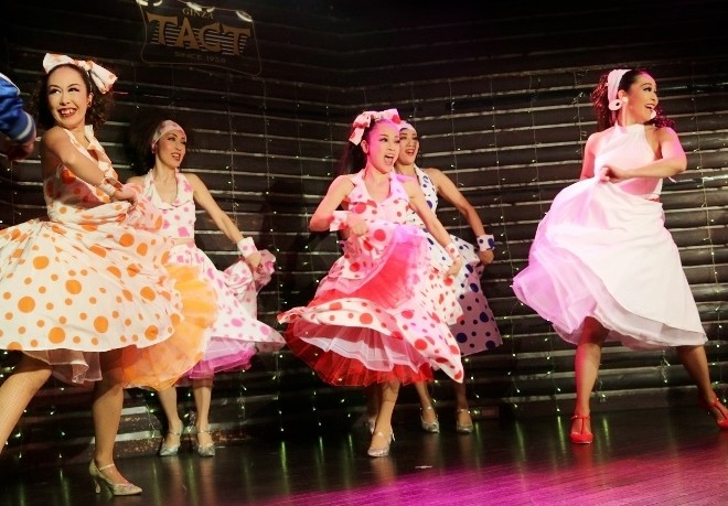 センターで踊っている陽子ちゃん