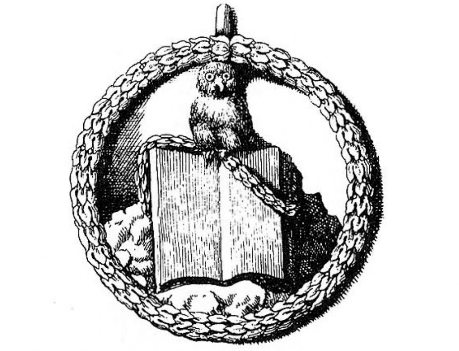 (Quelle: https://upload.wikimedia.org/wikipedia/commons/1/16/Minerval_insignia.png - bearbeitet)