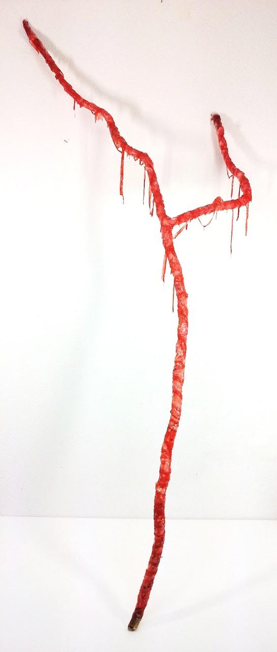 Arm, Holz, Gips, Silikon, Seide, u.a., ca. 230 x 90 x 73 cm
