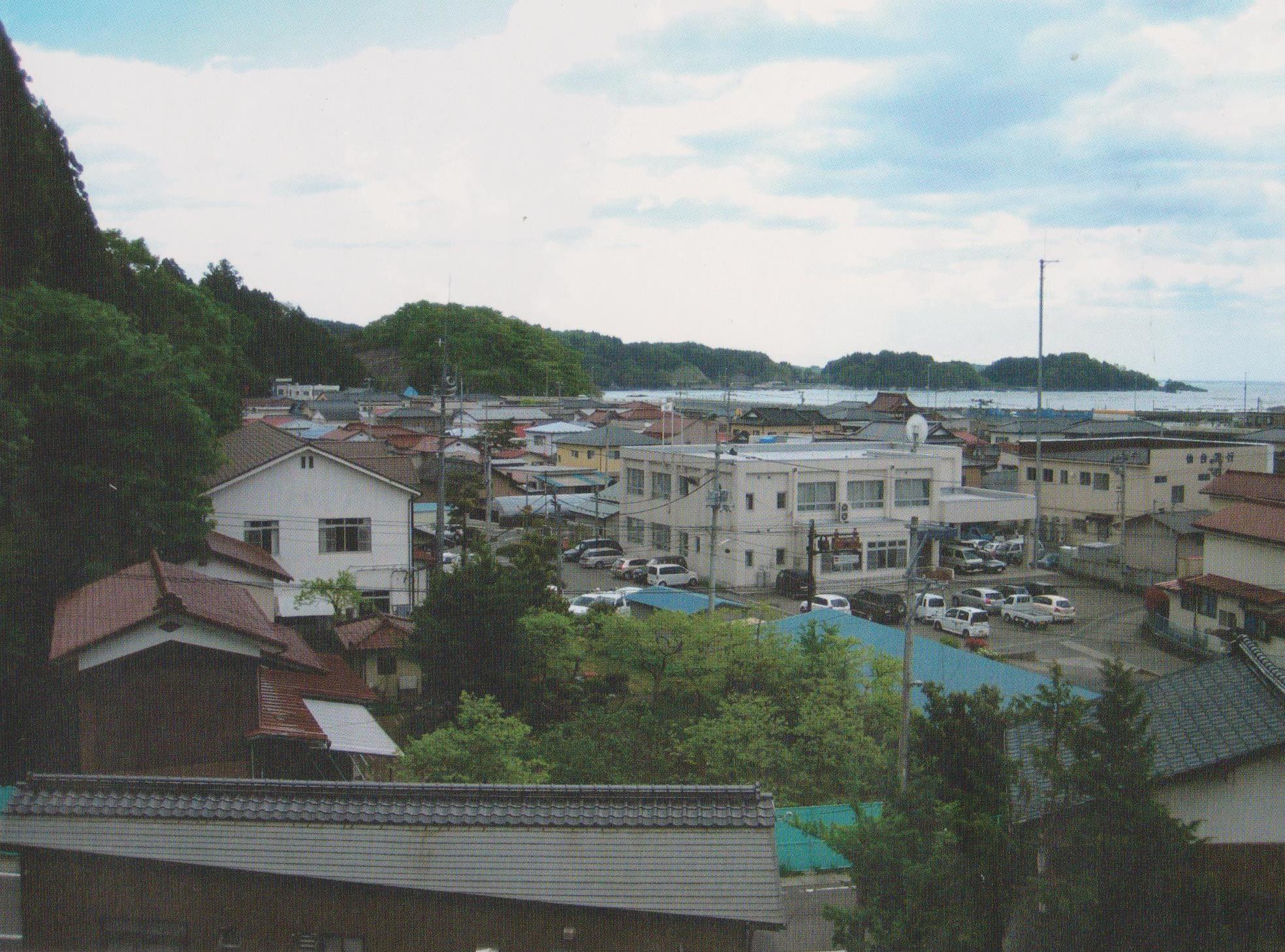 震災前の歌津駅から見た風景