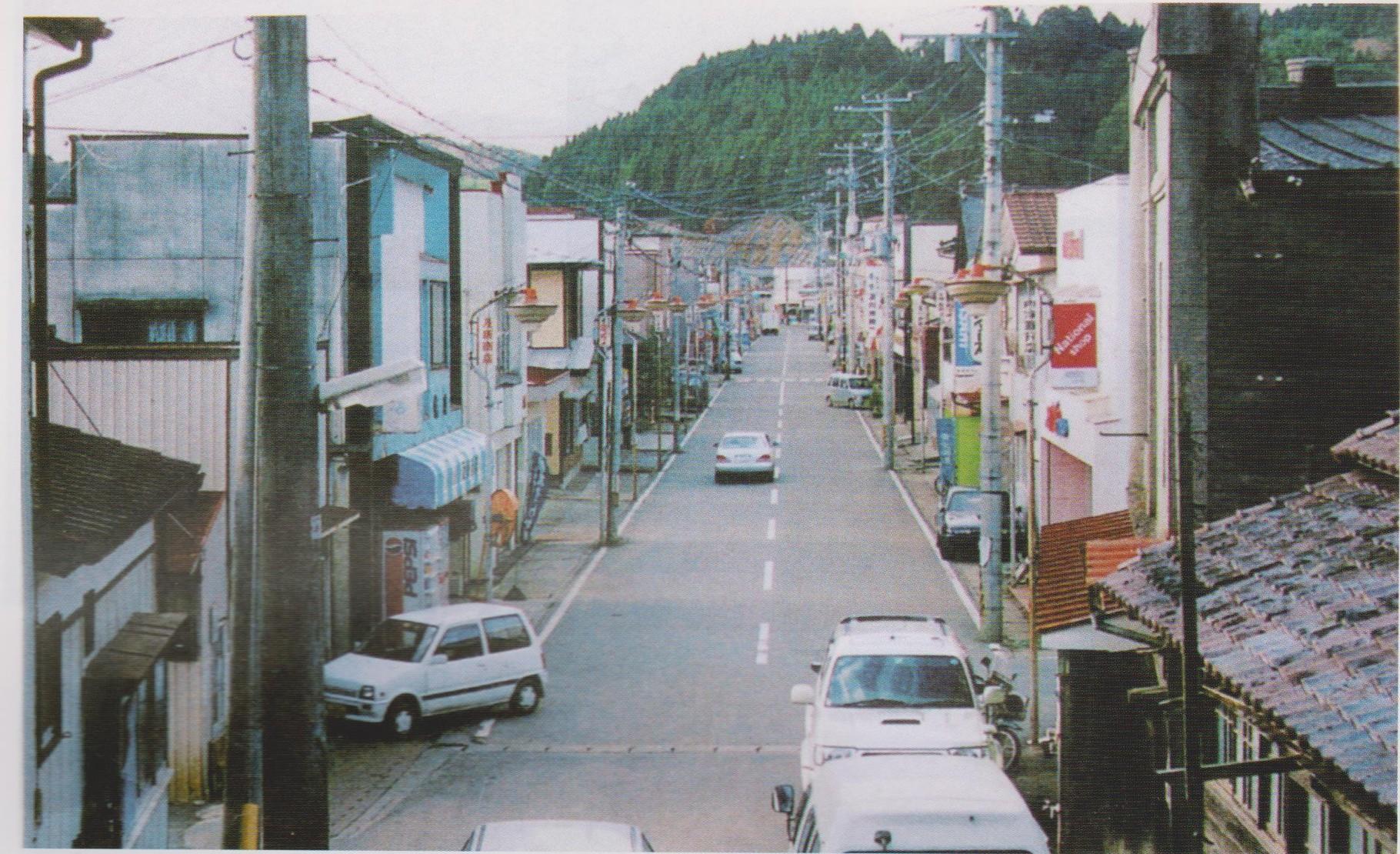 震災前伊里前商店街