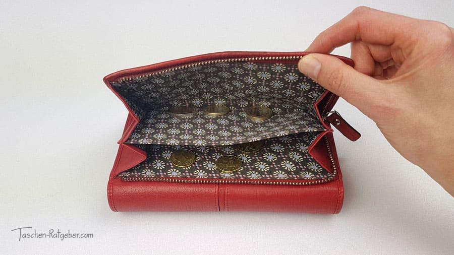 Geldböre Maitre rot Reißverschlussfach auf der Rückseite