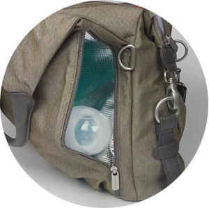 Isoliertes Reißverschlussfach Green Label Neckline Bag von Lässig