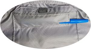 sicherheits hüfttasche Fach im Hauptfach mit Klettverschluss und Fach für ein Schreibutensil