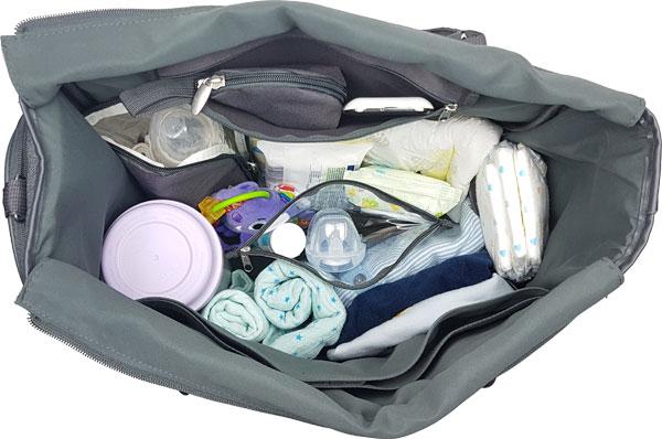 babymoov wickeltasche essential gefüllt