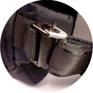 Tasche Diebstahlschutz Spezielles Verschluss-System zum Öffnen und Schließen des Gurtes