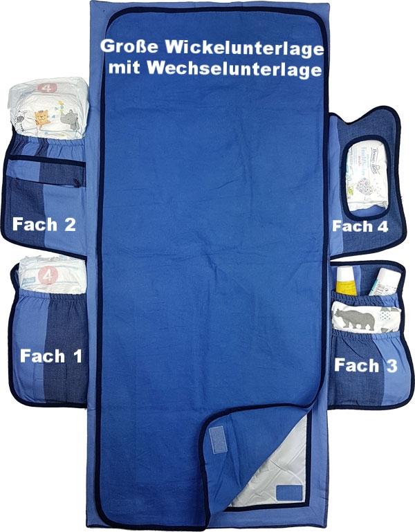 Hoppediz Wickelmax Salzburg: große Wickelunterlage und 4 Fächer