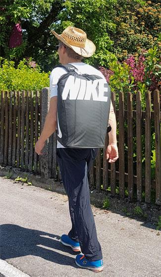 Nike Alpha Adapt Crossbody, Nike Alpha Adapt Crossbody Test, leichte Reisetasche, faltbare Reisetasche