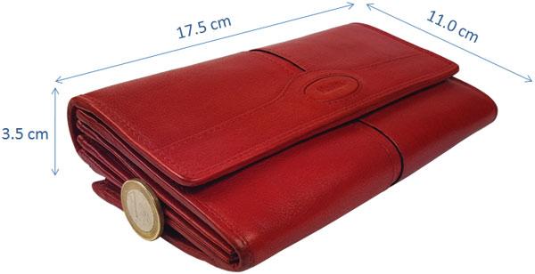 Maitre Damen Geldbörse rot,  Maitre Geldbörse Test