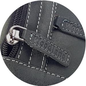 Woodland Reißverschluss Hauptfach und verdeckter Reißverschluss Vorderfach