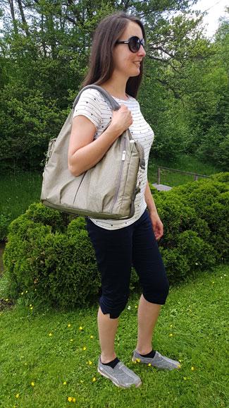 Lässig Neckline Bag Test ... Wickeltasche und Handtasche in einem, Wickeltasche Testsieger