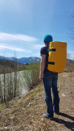 The Friendly Swede Reisetasche, Sporttasche, Motorradtasche, Segeltasche oder Wandertasche
