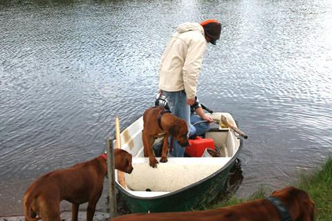 Ein Boot ist vorhanden