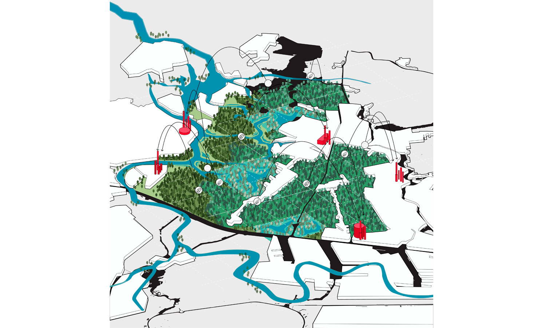 Flux stelt voor om in de Zaanse scheg 30 miljoen bomen te planten.