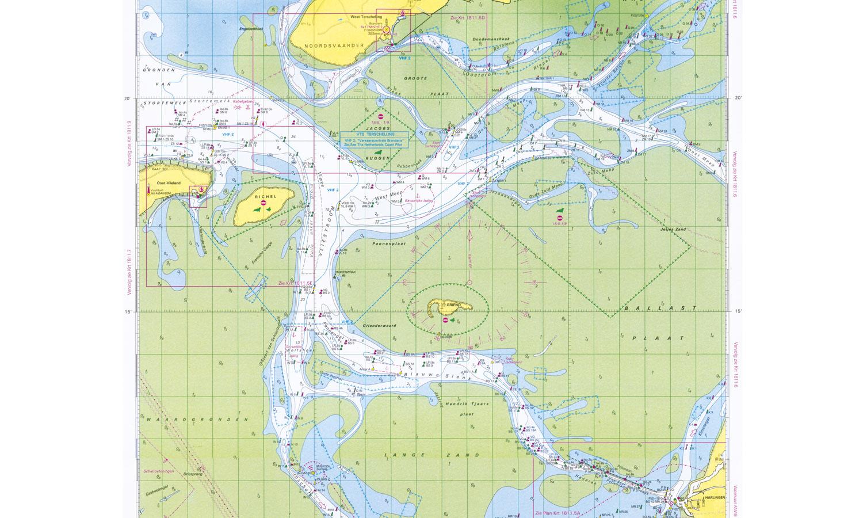 <b>Wadden – Zicht op Griend</b> Op de officiële Waddenzeekaart blijkt het op het Unesco-erfgoed een drukte van belang. Naast zijn unieke betekenis voor de natuur is het gebied een gewilde bestemming voor toeristen en recreanten. (1/2013)