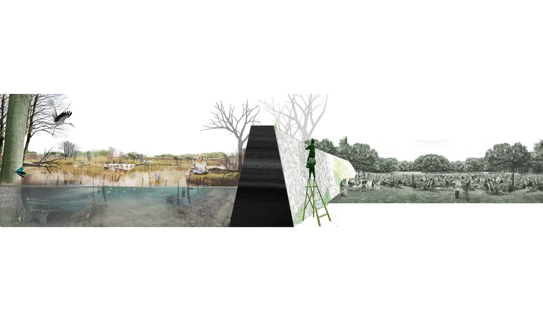 Om de natuur vrij spel te geven wordt een plek in het Amsterdamse Bos geïsoleerd door een muur van kleilagen.