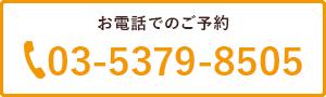お電話でのご予約 03-5379-8505