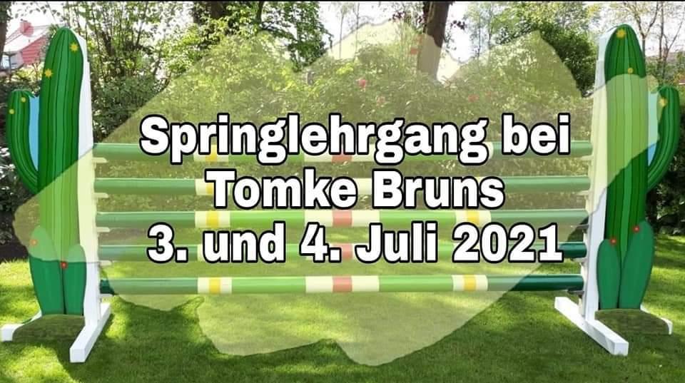 Springlehrgang mit Tomke Bruns am 3. und 4.  Juli 2021